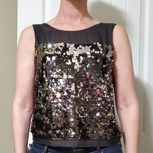 Silk and sequin BCBG blouse